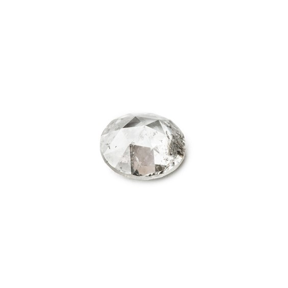 Silver Diamond Rose Cut Cabochon, Approx 5.3mm Round
