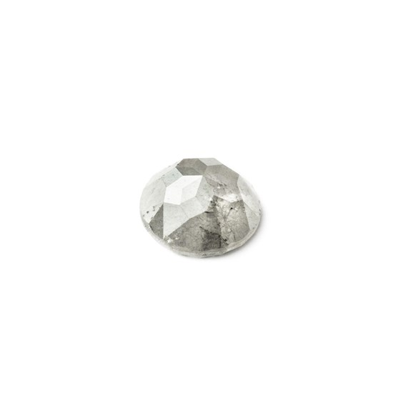 White Diamond Rose Cut Cabochon, Approx 5.25mm Round
