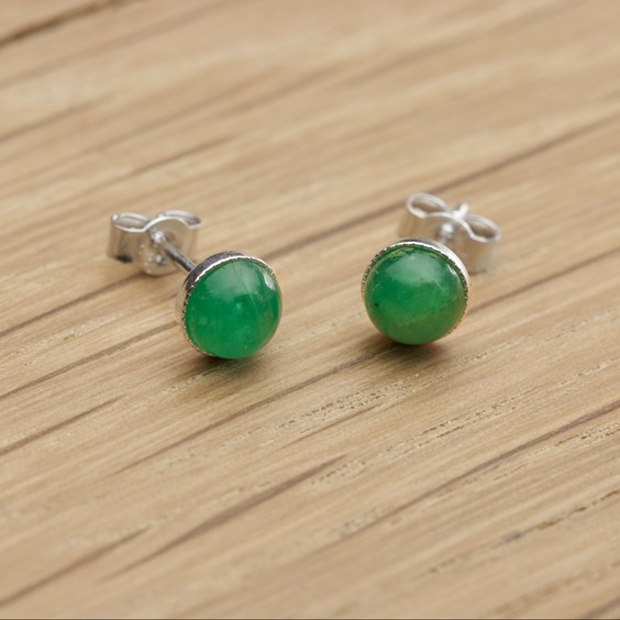 Emerald Simple Stud Earrings
