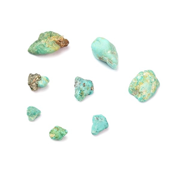 Turquoise Nuggets (Undrilled), Approx 5-7mm