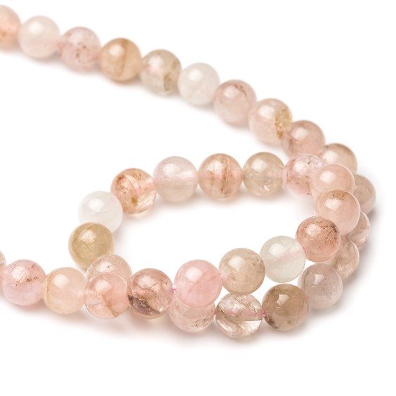 Morganite Round Beads, 8mm