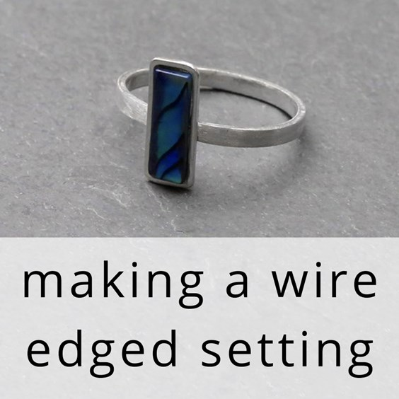 How to make a wire edged setting tutorial from Kernowcraft