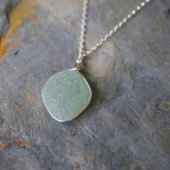 sadie jewellery sea glass necklace