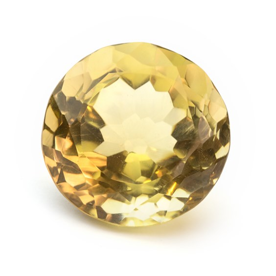Citrine 31mm Round Faceted Stone