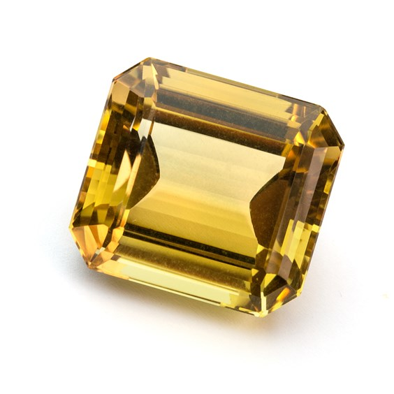 Citrine 30x27mm Octagon Faceted Stone