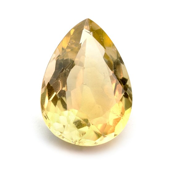 Citrine 24x18mm Teardrop Faceted Stone