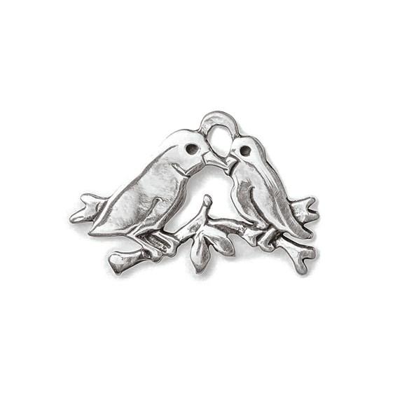 Sterling Silver Lovebird Charm