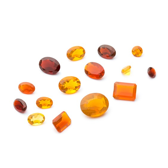 Fire Opal Faceted Stones