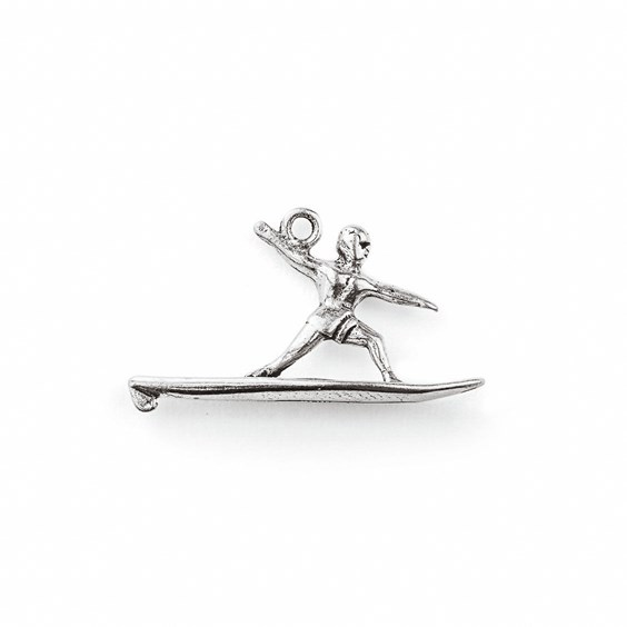 Sterling Silver Surfer Charm