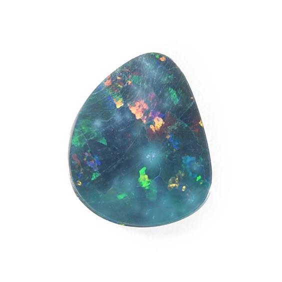 Australian Free Form Opal Doublet, Approx 16.5x14mm