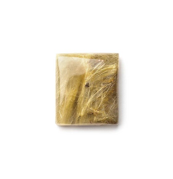 Golden Rutile Quartz 18.5x16.5mm Rectangular Cabochon