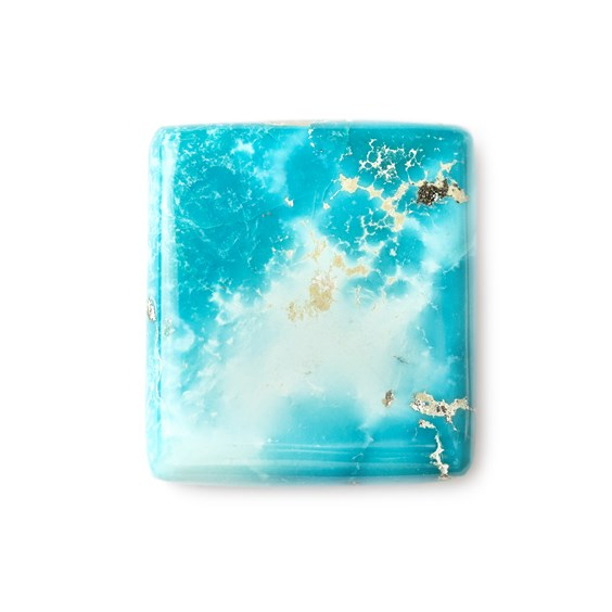 Untreated Natural Persian Turquoise Rectangular Cabochon, Approx 30.5x37.5mm
