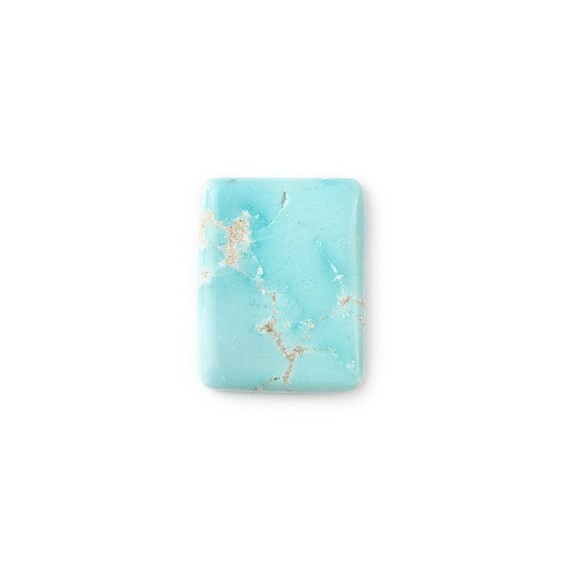 Untreated Natural Persian Turquoise Rectangular Cabochon, Approx 19.5x15mm
