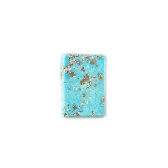 Untreated Natural Persian Turquoise Rectangular Cabochon, Approx 19.5x14mm