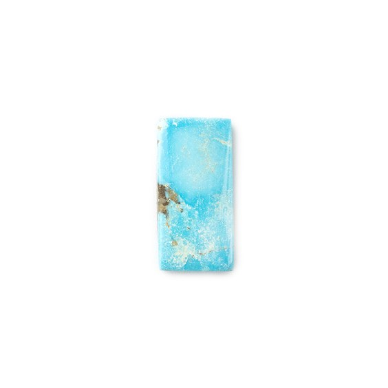 Untreated Natural Persian Turquoise Rectangular Cabochon, Approx 20x10mm