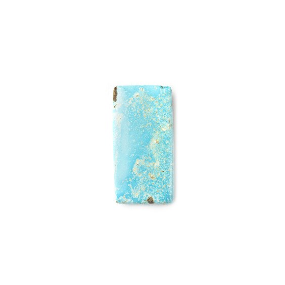 Untreated Natural Persian Turquoise Rectangular Cabochon, Approx 19.5x10mm