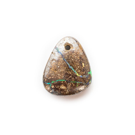 Australian Boulder Opal Approx 13.5x11.5mm Head Drilled Focal Pendant