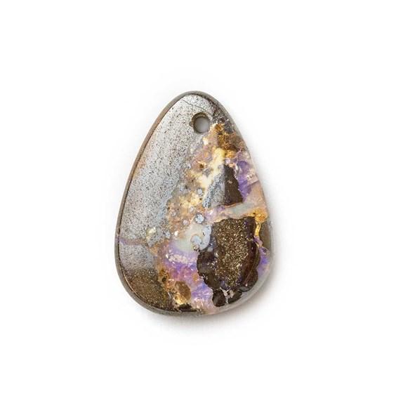 Australian Boulder Opal Approx 17.5x12.5mm Head Drilled Focal Pendant