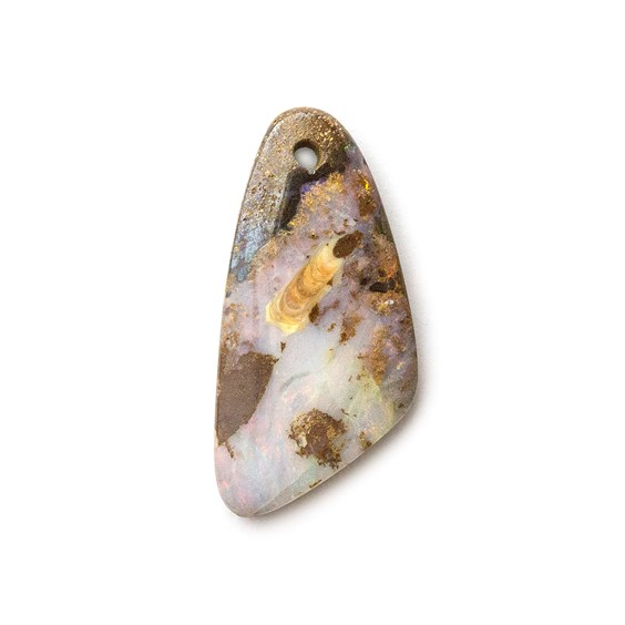 Australian Boulder Opal Approx 20x9.5mm Head Drilled Focal Pendant