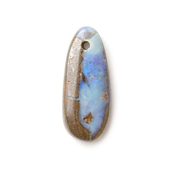 Australian Boulder Opal Approx 16.5x7mm Head Drilled Focal Pendant