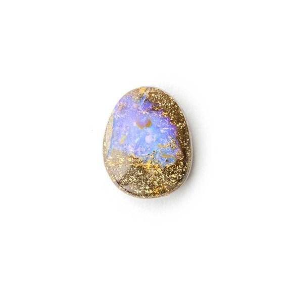 Australian Boulder Opal Approx 12x9.5mm Top Drilled Focal Pendant