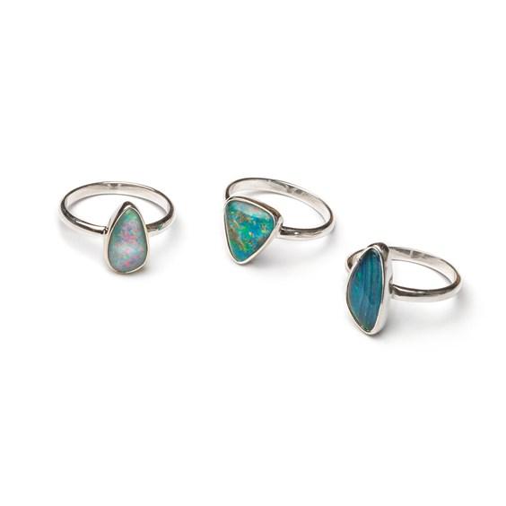 Ready To Wear Sterling Silver Opal Ring