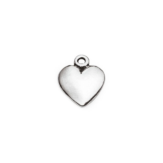 Sterling Silver Solid Heart Charm