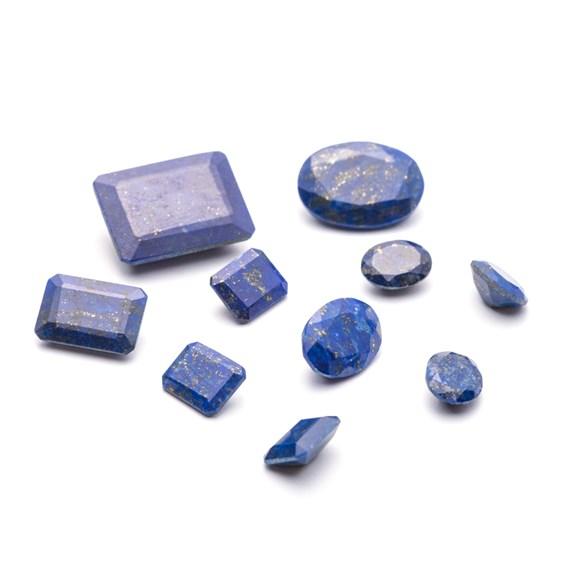 Lapis Lazuli Faceted Stones