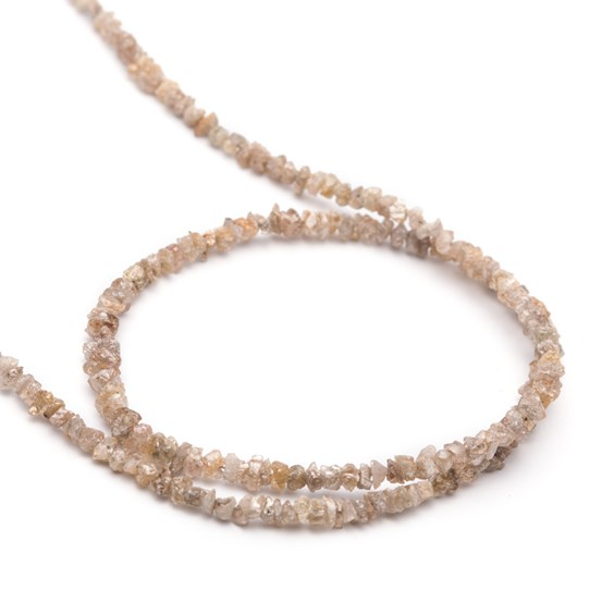 Champagne Diamond Natural Rough Nugget Beads