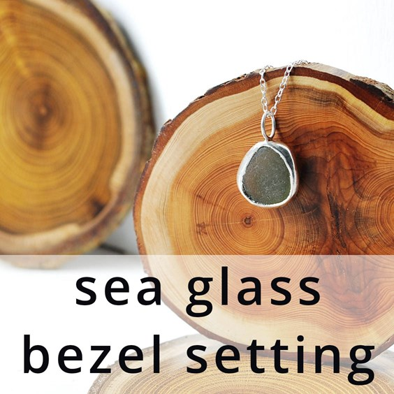 sea glass bezel setting