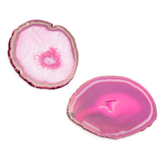 Large Pink Agate Slices