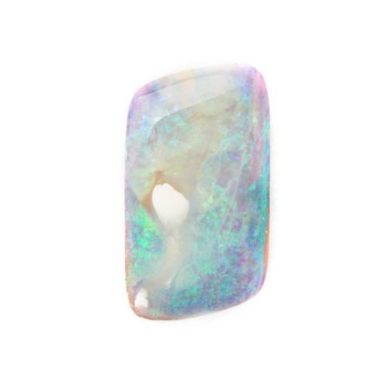 Premium Australian Free Form Wood Pipe Opal, Approx 18.5x10.5mm