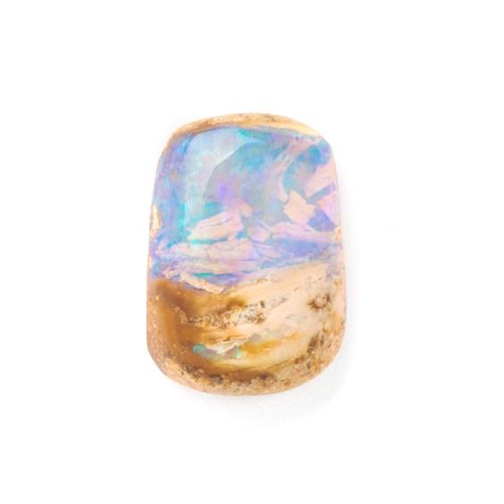 Premium Australian Free Form Wood Pipe Opal, Approx 14x9.5mm