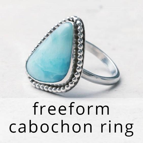 free form cabochon bezel setting