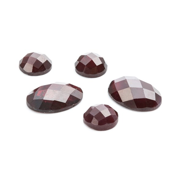 Garnet Checker Cut Cabochons