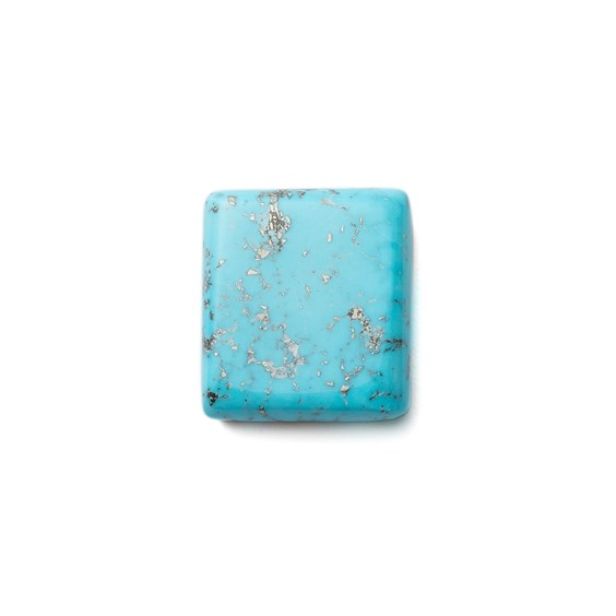 Untreated Natural Persian Turquoise Rectangular Cabochon, Approx 18x16mm