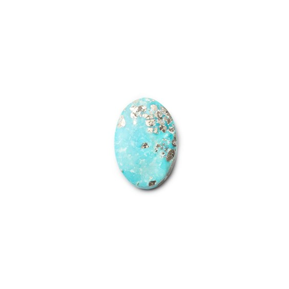 Untreated Natural Persian Turquoise Oval Cabochon, Approx 16.5x11.5mm