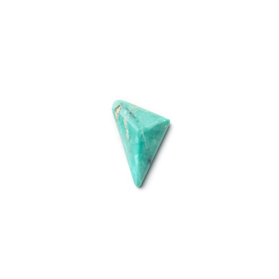 Untreated Natural Turquoise Faceted Top Cabochon, Approx 15x12mm