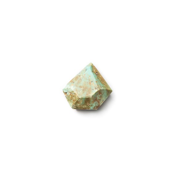 Untreated Natural Turquoise Faceted Top Cabochon, Approx 14x14mm