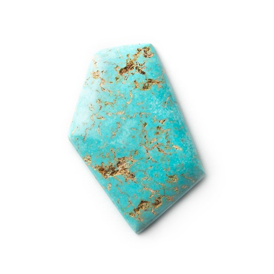 Untreated Natural Turquoise Cabochon, Approx 38.5x23.5mm
