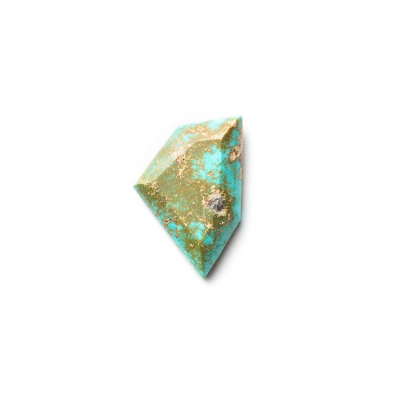 Untreated Natural Turquoise Faceted Top Cabochon, Approx 22x14mm