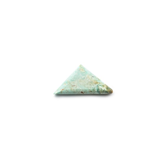 Untreated Natural Turquoise Faceted Top Cabochon, Approx 11x8.5mm