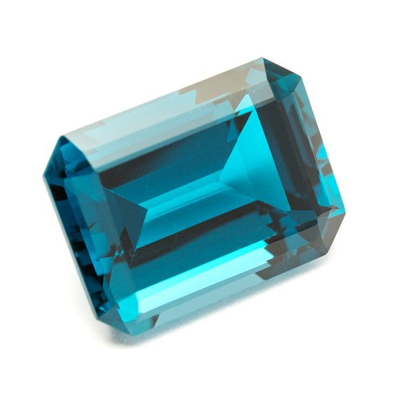 London Blue Topaz 27x20mm Faceted Octagon Stone