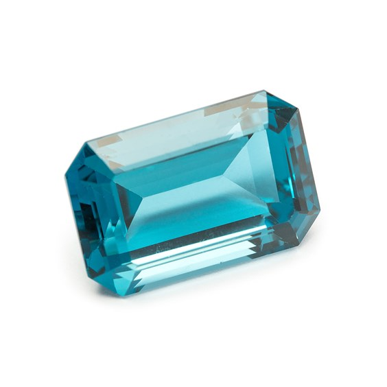 London Blue Topaz 23x16mm Faceted Octagon Stone