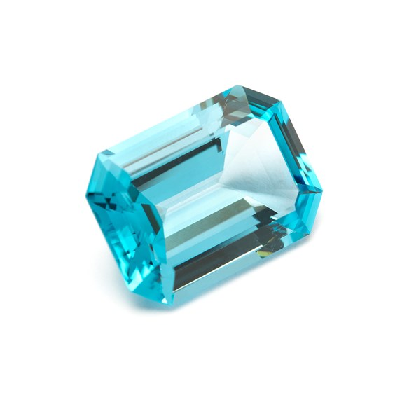London Blue Topaz 22x16mm Faceted Octagon Stone