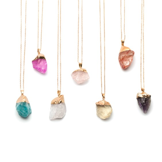 Ready to Wear Rough Crystal Stone Necklace