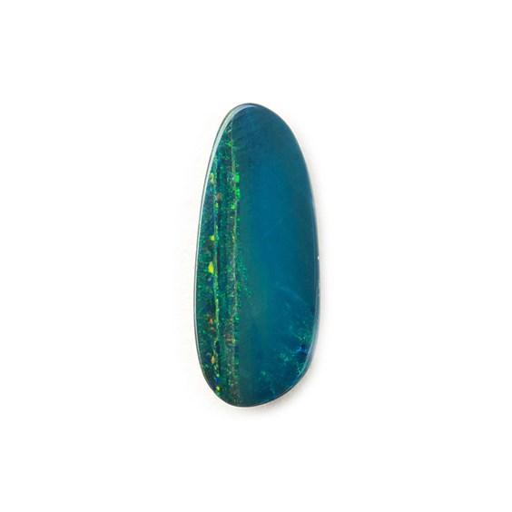 Australian Free-Form Opal Doublet, Approx 13.5x5.5mm