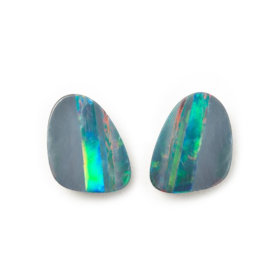 A Pair of Australian Free-Form Opal Doublets