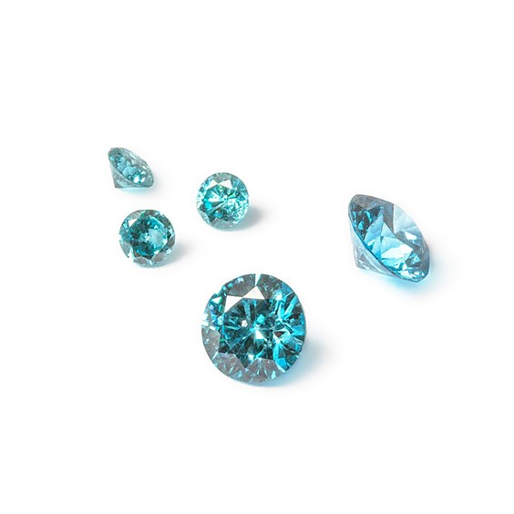 Blue Diamond Faceted Stone