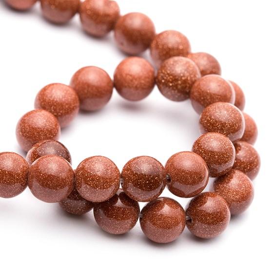Goldstone Round Beads